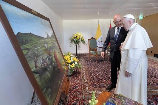 Paus Fransiskus bertemu secara pribadi dengan Presiden Swiss Alain Berset/Vatican News