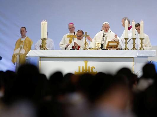 Paus merayakan Misa di Palexpo Convention Center/Foto Vatican News