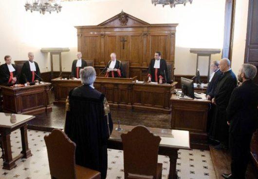 Tribunal Vatikan mengadili kasus pornografi anak yang dilakukan Mgr Carlo Capella, 23 Juni 2018. (ANSA)