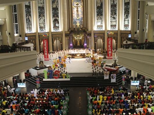 Misa Pembukaan Jambore Nasional Sekami 2018 di Katedral Santo Joseph Pontianak/PEN@ Katolik/pcp