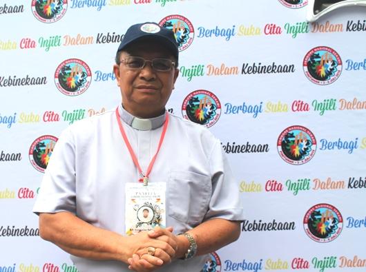 Ketua Umum Panitia Pelaksana Jambore Nasional Serikat Kepausan Anak dan Remaja Misioner (Jamnas Sekami) 2018 di Pontianak, Pastor Gregorius Sabinus CP/PEN@ Katolik/pcp