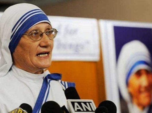 Suster Mary Prema, superior jenderal para suster Misionaris Cinta Kasih milik Ibu Teresa.