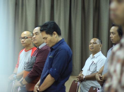 Beberapa dari wartawan yang hadir termasuk Ketua Komisi Komsos KAP Paulus. Foto Komsos KAP