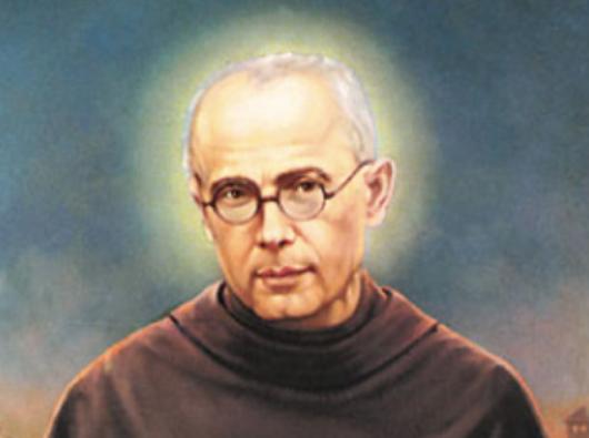 Santo Maximilian Kolbe, seorang imam Fransiskan, salah satu korban Auschwitz