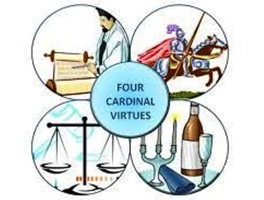 Empat keutamaan pokok adalah kebijaksanaan, keadilan, keberanian, dan penguasaan diri. Site of Wisdom