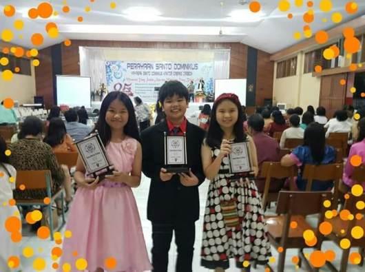Tiga anak didik Sekolah Santa Maria Cirebon dengan 'Dominic Award' 2018