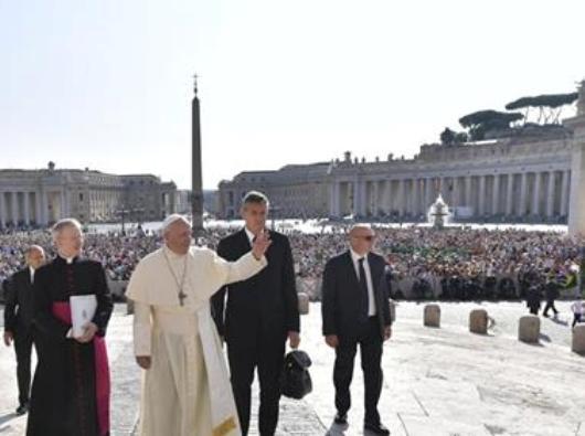 Paus pada Audiensi Umum 29 Agustus 2018