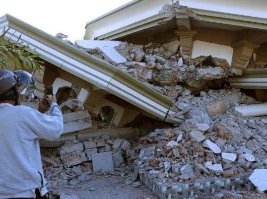 Gempa di Lombok. Berdasarkan foto ANSA