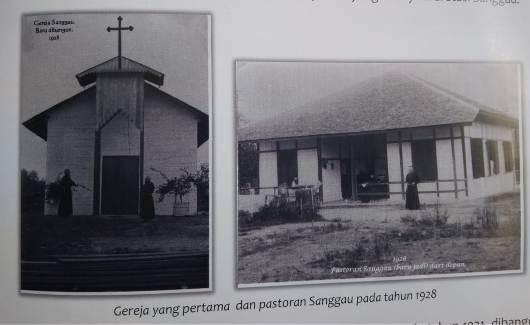 Gereja dan Pastoran Sanggau yang pertama