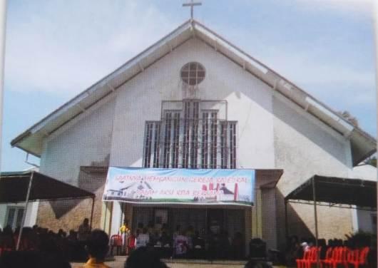 Gereja ketiga Paroki Sanggau yang menjadi katedral Sanggau