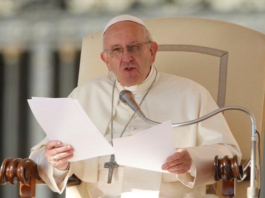 Paus Fransiskus dalam audiensi umum di Lapanan Santo Petrus Oktober 2017. Hukuman mati bertentangan dengan Injil. Foto CNS