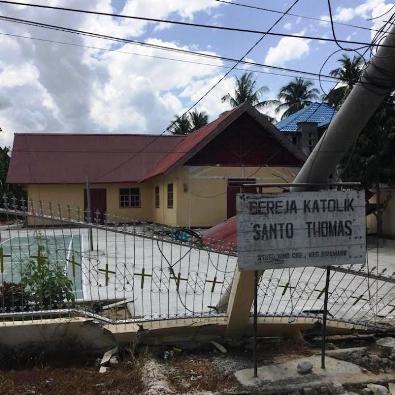 Gereja Katolik Janooge. Foto Komsos Keuskupan Manado