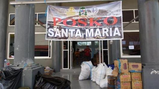 Posko Santa Maria, Palu. Foto Komsos Keuskupan Manado