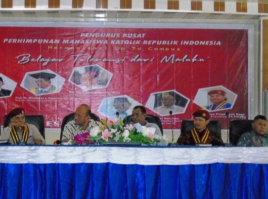 """Suasana """"belajar toleransi dari Maluku."""" Foto dari PP PMKRI"""