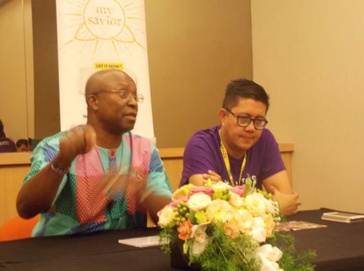 Mark Nimo berbicara dalam konferensi pers. PEN@ Katolik/km