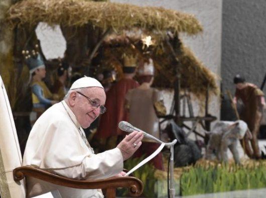 Paus Fransiskus dalam Audiensi umum di Aula Paulus VI Vatikan (Vatican Media)