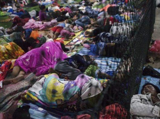 Pengungsi di Kecamatan Labuan Banten setelah tsunami di Selat Sunda (ANSA)