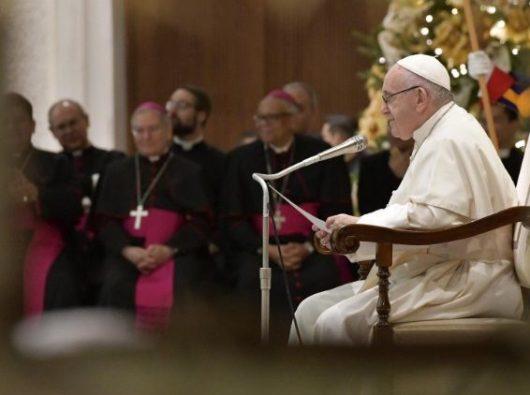 Paus Fransiskus berbicara dalam Audiensi Umum mingguan (Vatican Media)