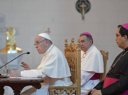 Paus Fransiskus berbicara dengan Para Uskup Amerika Tengah (Vatican Media)