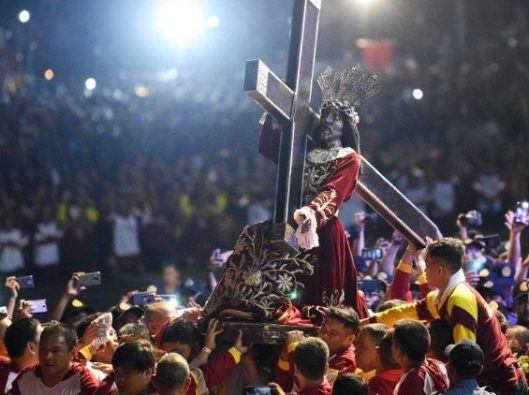 Prosesi the Black Nazarene di Manila, 9 Januari 2019.  (AFP)