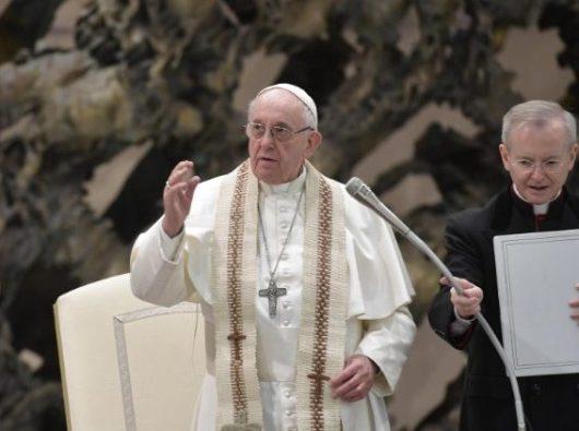 Paus Fransiskus dalam Audiensi Umum mingguan. (Vatican Media)