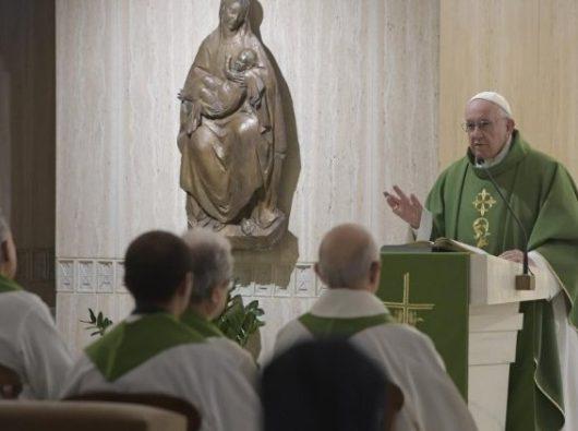 Paus Fransiskus dalam Misa pagi 8 Februari 2019. Vatican Media