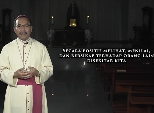 """Mgr Robertus Rubiyatmoko dalam Sapaan Gembala Prapaskah 2019 berjudul """"Makin Tergerak untuk Berbagi Berkat"""" TANGKAPAN GAMBAR oleh PEN@ Katolik/pcp"""