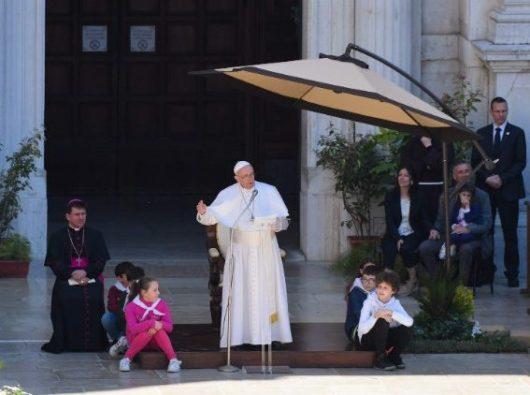 Paus Fransiskus di Loreto (Vatican Media)