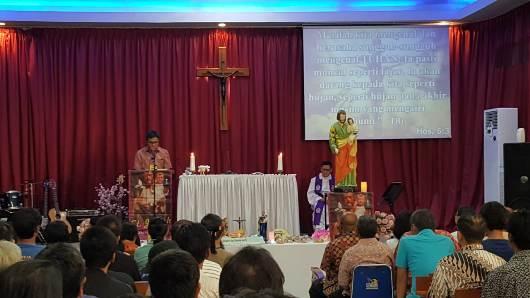 Suasana Misa di LP Pemuda Tangerang