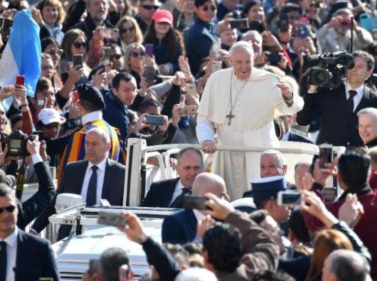 Paus Fransiskus dalam audiensi umum 7 April 2019. ANSA