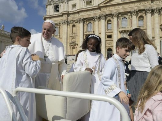 Paus Fransiskus dalam audiensi umum 22 Mei 2019. (Vatican Media)