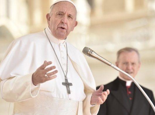 Paus Fransiskus berbicara pada Audiensi Umum mingguan (Vatican Media)