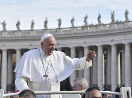 Paus Fransiskus dalam    Audiensi Umum   (Vatican Media )