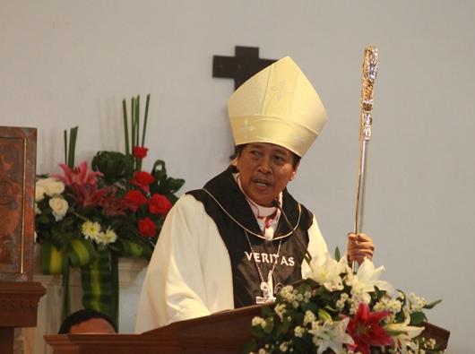Uskup Purwokerto Mgr Tri Harsono (PEN@ Katolik/pcp)