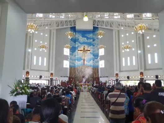 Suasana Misa Requiem di Katedral Timika