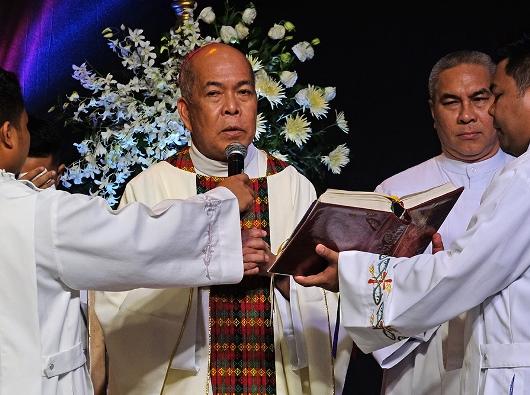 Uskup Agung Romulo Valles, Ketua Konferensi Waligereja Filipina. FOTO FILE