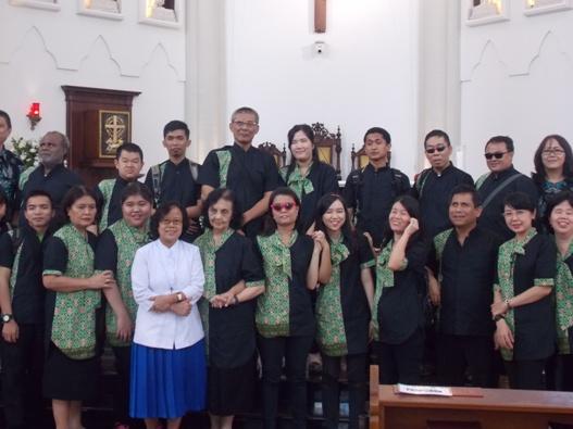Paduan Suara Komunitas Cacat Laetitia yang dijalankan oleh Lembaga Daya Dharma milik Keuskupan Agung Jakarta (PEN@ Katolik/krm)