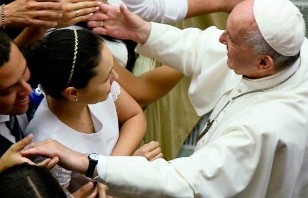 Paus Fransiskus dalam Audiensi Umum mingguan. AFP
