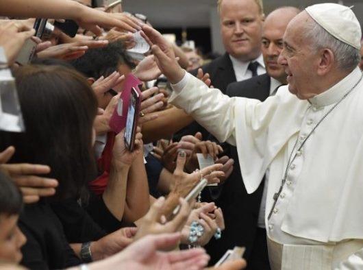 Paus Fransiskus dalam Audiensi Umum di Aula Paulus VI, Rabu, 7 Agustus, (Vatican Media)