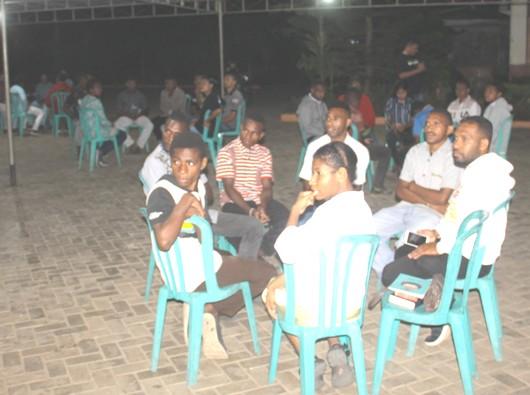 Coffee Night OMK dalam rangka bulan Kitab Suci Nasional di Marauke (PEN@ Katolik/ym)