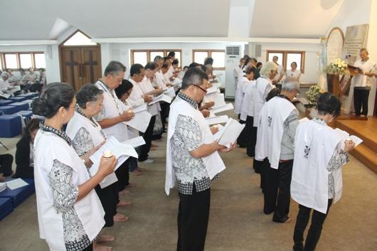 Para anggota PDA yang mengucapkan dan membaharui Janji (PEN@ Katolik/soni)