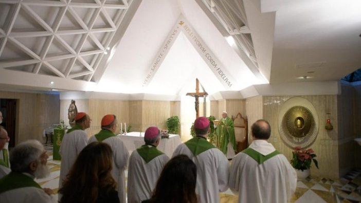 Paus Fransiskus merayakan Misa di  Casa Santa Marta  (ANSA)