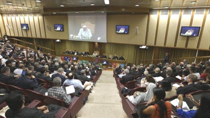 Paus dalam Pertemuan ke-15 Sinode Amazon (Vatican Media)