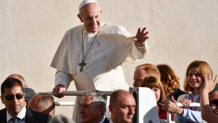 Paus Fransiskus dalam Audiensi Umum  16 Oktober 2019 (AFP)