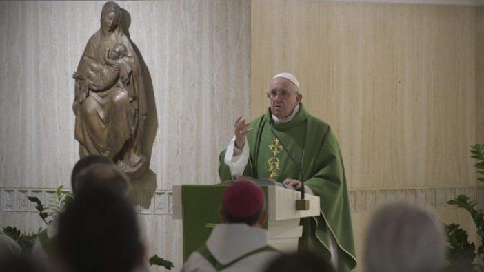 Paus Fransiskus dalam homili Misa 31 Oktober 2019 (Vatican Media)