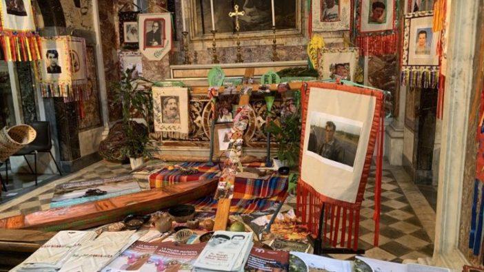 Sebuah kapel di Gereja Santa Maria  di Traspontina tempat patung-patung itu dipajang (ANSA)