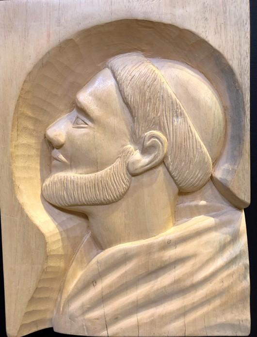 Ukiran katu wajah Santo Dominikus