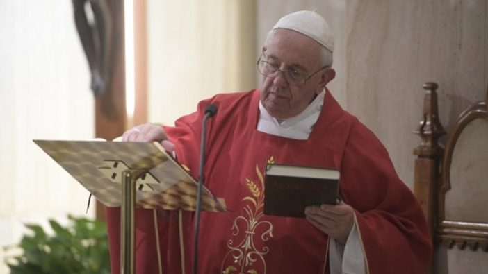 Paus dalam  Misa di Casa Santa Marta 21 Januari 2020 (Vatican Media)