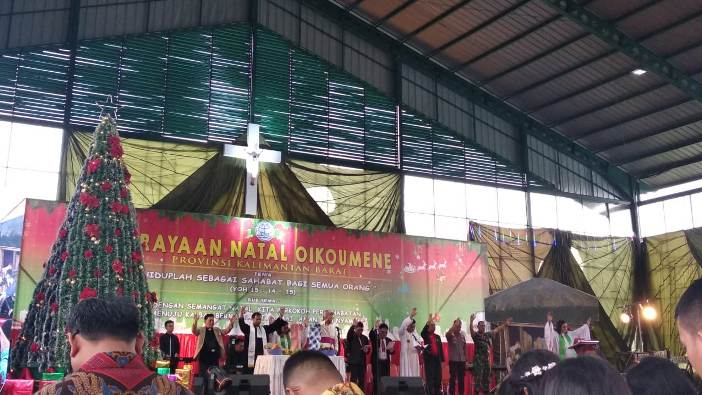 Suasana Kebaktian Matal Oikumene Kalbar (PEN@ Katolik/pg)