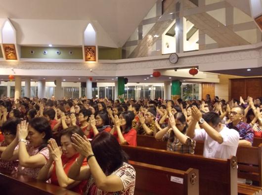 Suasana Misa Imlek di Tengerang (PEN@ Katolik/krm)